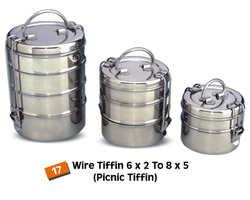 Stainless Steel Wire / Clip Style (Picnic) Tiffin
