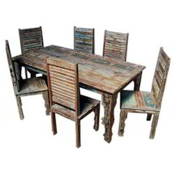 Dining Set Reclaimed Wood