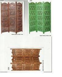 carved wooden room divider