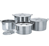Stainless Steel Shallow Stock Pots