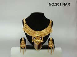 gold heavy necklace set