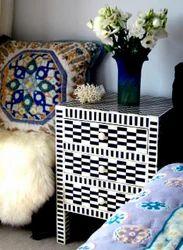 Bone Inlay Bedside Furniture