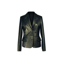 Black Formal Leather Jacket