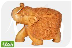 Vaah Carved Wooden Elephant Showpiece