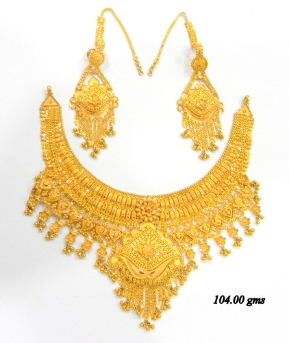 for plated buy lct bridal set stones pearl apara golden gold dp necklace women