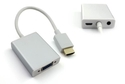 HDMI to VGA+3.5mm Audio+Mirco USB Converter-Aluminum Case
