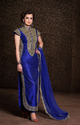 Designer Blue Ethnic Anarkali Suits