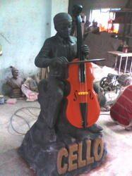 FRP Musician Statue