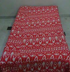 Kantha Gudri Blanket Ikat Handmade Twin Bed Cover