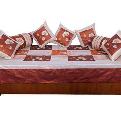rajasthani beige maroon silk cushion dewan set