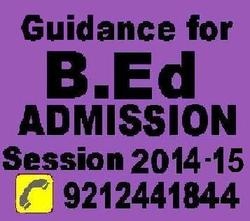 B.Ed Admission for 2014