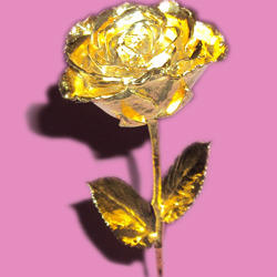 Gold Plated Roses 12 Inches