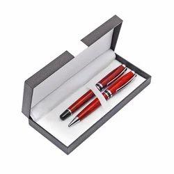 black leather pen pouch