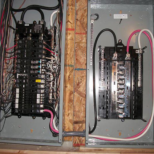 Electrical sub panel hook up