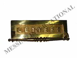 Brass Letter Plate with Handle