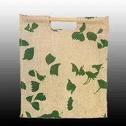 Leaves Printed Jute Bag