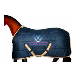 Horse Indoor Winter Rugs Light Weight Cotton Navy