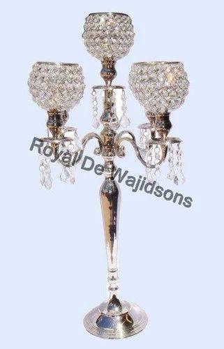 Antique Crystal Candelabra