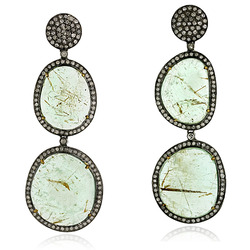 2012 Designer Emerald Gemstones Dangle Earrings