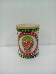 Marble Ganesha Pen Stand