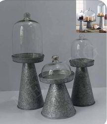 Galvanized Cake Stand/ Server Set of 3