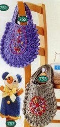u shape crochet bags