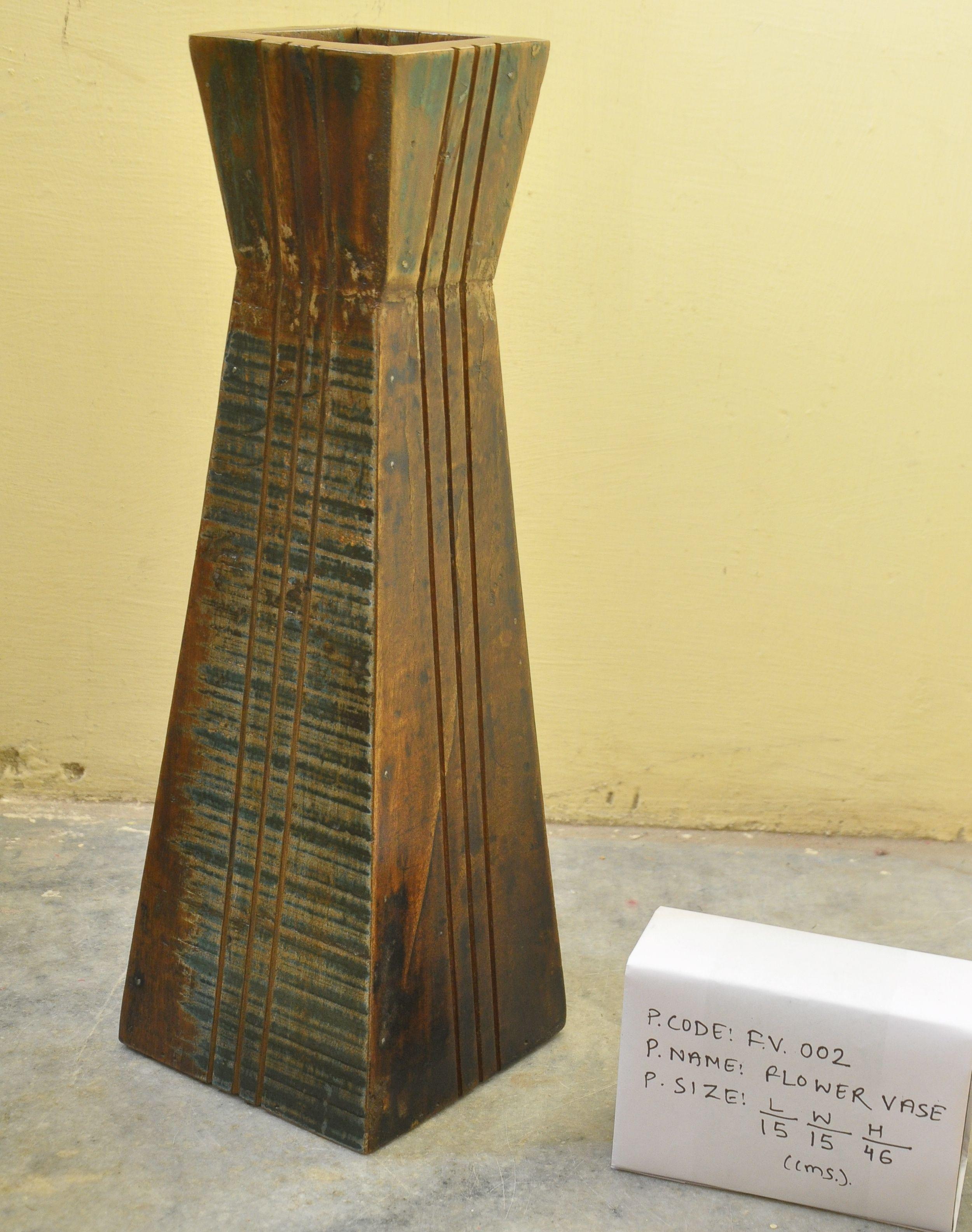 Flower vase designer wooden flower vase manufacturer from jodhpur designer wooden flower vase floridaeventfo Images