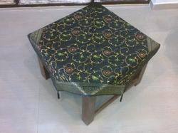 Silk Embroidery Zari Border Table Cover