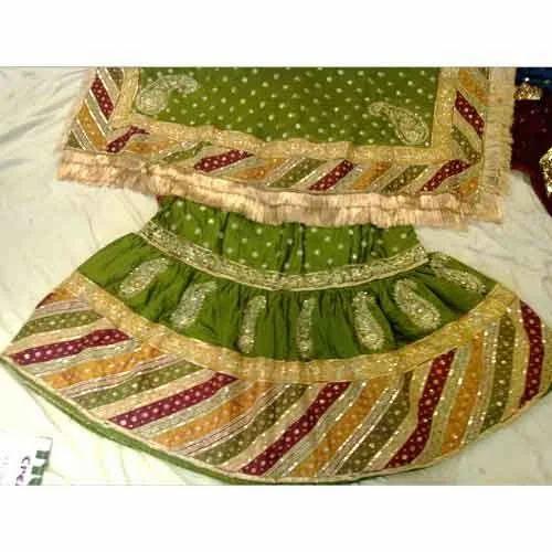 Green Colored Bridal Gharara