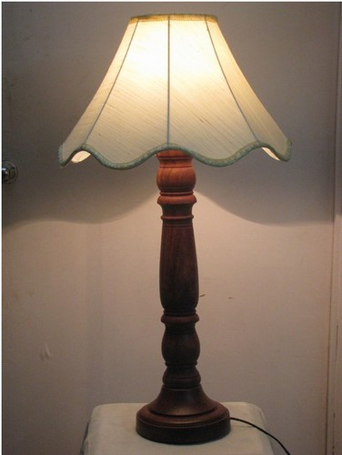 Table Lamp 16inches Height Wood Stand
