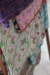 Old Vintage Hand Stitched Very Fine Kantha Quilt
