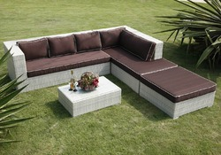Wicker Garden Sofa