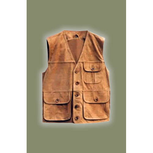 Brown Leather Waistcoat