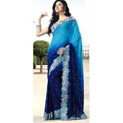 Blue Shade Fancy Saree
