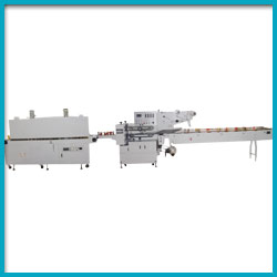 Combined Flow Pack and Shrink Wrapping Machinery