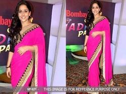 Bollywood Stylish Party Wear Pink Colour Saree