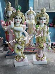 White Stone Radha Krishna Idol