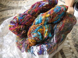Multicolored Banana Silk Yarns for Hand Knitters