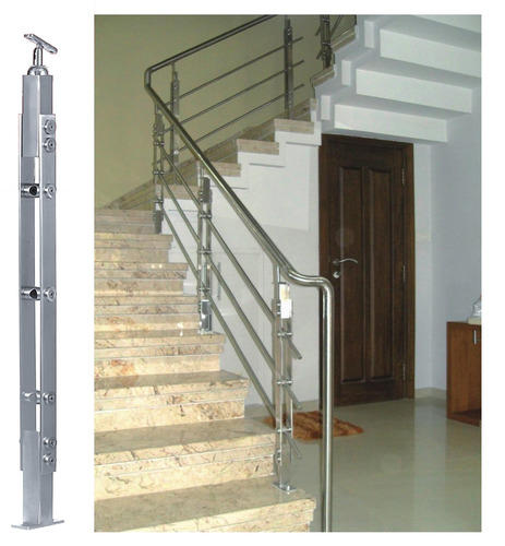 Stainless Steel Railing System   Stainless Steel Commercial Model Handrail  Manufacturer From Chennai