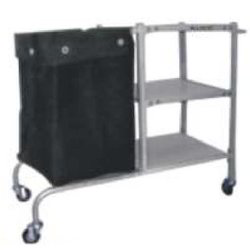 Solied Linen Trolley with Canvas Bag