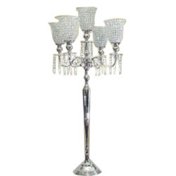 5 Light Candelabra With Draping Crystals