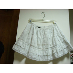 Short White Skirt