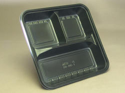 Black Disposable Tray