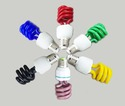 Colored CFL Lamps