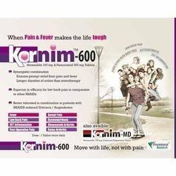 Kornim-600: Nimesulide 100 mg Paracetamol 325mg