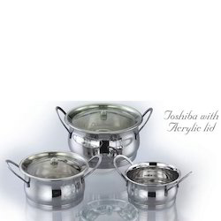 Toshiba Stainless Steel Utensils with Acrylic Lid
