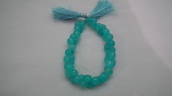 Turquoise Chalcedony Onion Briolette
