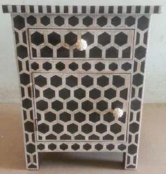 Bone Inlay Bedside cabinet