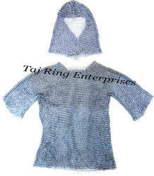 Chain Mail Shirt With Coif