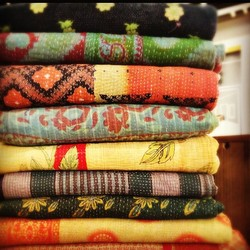Old Kantha Sari Quilts